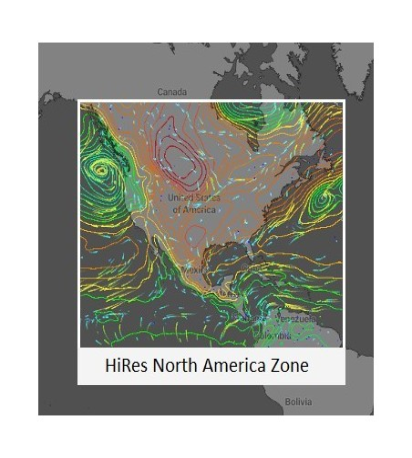 HIRES Amérique du Nord / Antilles / Canada