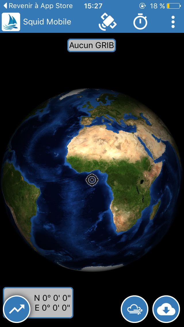 Vue de la map monde Squid Mobile