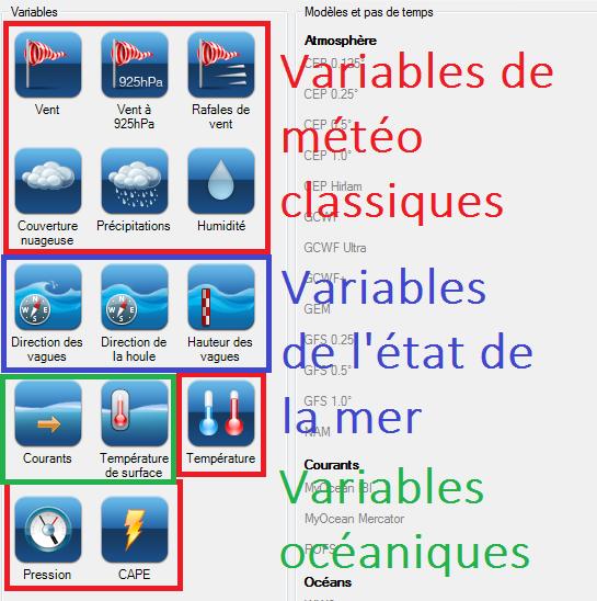 grib files variables